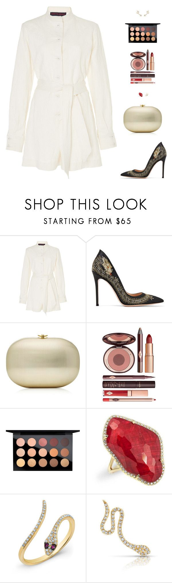 """Sin título #4996"" by mdmsb on Polyvore featuring moda, Martin Grant, Gianvito Rossi, Charlotte Tilbury, MAC Cosmetics y Anne Sisteron"