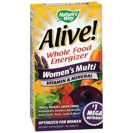 Alive WOMENS MULTI Vitamin has a Powerful variety of Vitamins and Minerals, giving you balance without   guessing what you need, it is all done for you. The ALIVE Vitamin and Minerals are good to have on hand, in case you can't get you fresh fruit and vegetable juicing fix.  www.selfmender.com
