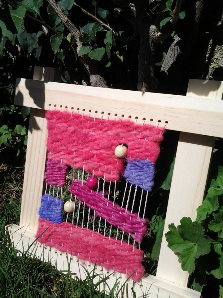 Telar lana natural colores alegres!!