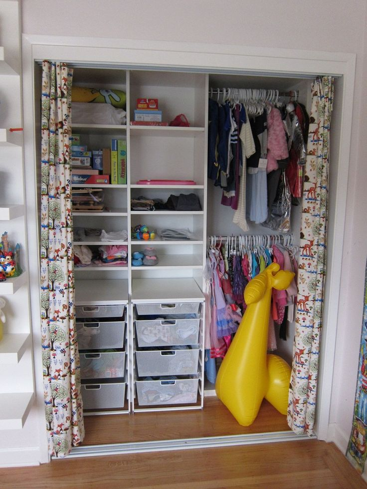 38 best kids closets images on pinterest kid closet Rooms without closets creative
