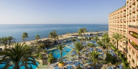 The view from the 6th floor of Sunset Beach Club Hotel in Benalmadena, Spain