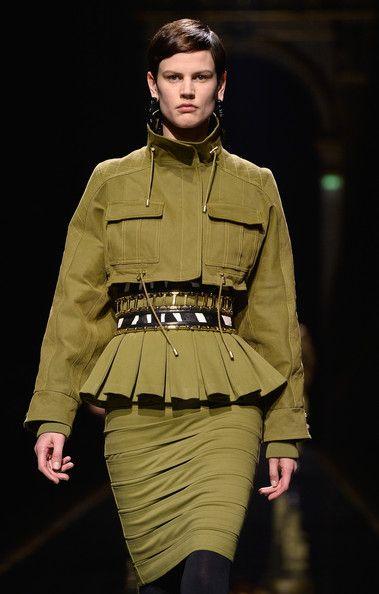 Saskia de Brauw walks the runway during the Balmain show as part of the Paris Fashion Week Womenswear Fall/Winter 2014-2015 on February 27, 2014 in Paris, France.