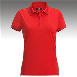 Loudmouth Golf Ladies Border Bright Red Golf Polo #DressInRedDay #golf4her #womenhealth #red