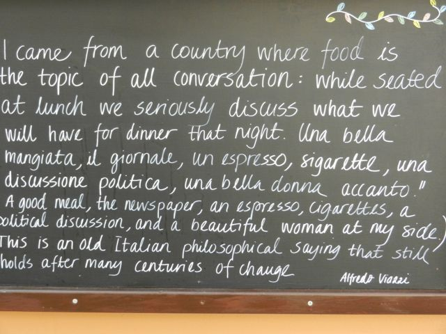 OLD ITALIAN SAYING