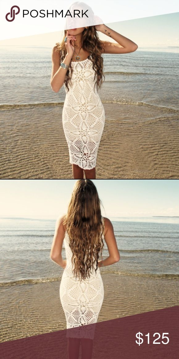 Emma O Clothing Crochet Festival  Dress This dress is super cute for a beach cover up! This dress is see through, but I do have a white or tan dress slip that I can sell you also (would affect price if needed.) This dress is NWOT!! Tags: Coachella, Festival, Beach, Crochet Emma O Clothing Dresses