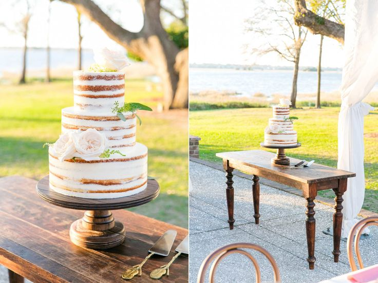nearly naked wedding cake by pphg pastry chef jessica grossman lowndes grove plantation in charleston