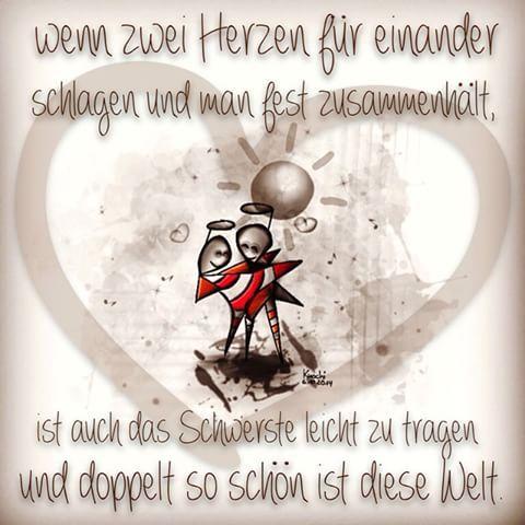 ❤️❤️ Wenn zwei #Herzen für einander schlagen und man fest zusammenhält,ist auch das Schwerste leicht zu tragen und doppelt so schön ist diese #Welt.