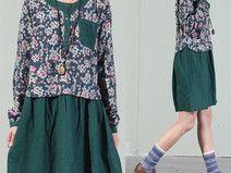 Groene gelaagde jurk -UNB22