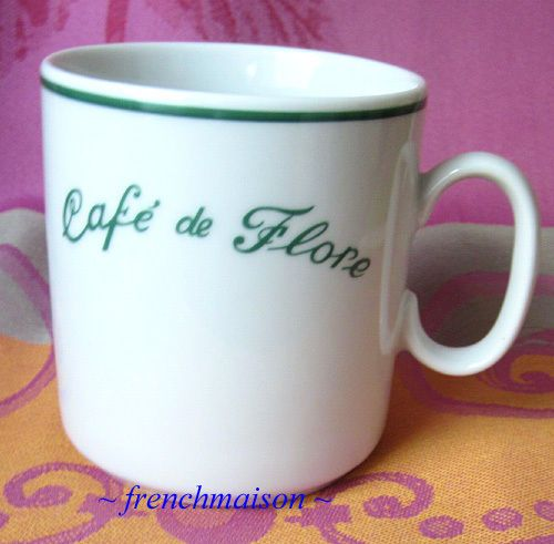 Cafe de Flore Coffee Tea MUG Most Famous Romantic Paris Cafe Left Bank Gift New #CafedeFlore