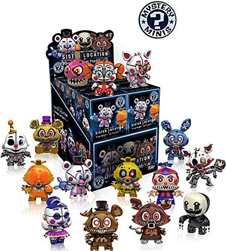 Funko Mystery Mini Five Nights at Freddy Series 2 - Sister Location Display Box of 12 Action Figures. Five Nights at Freddy's Mystery Minis Series 2 Display Case contains 12 blind-bagged mini-figures!. Your favorite characters from Five Nights at Freddy Series 2, as stylized vinyl Mystery Minis from Funko!. Stylized collectables stand 3 inches tall, perfect for any Five Nights at Freddy Series 2 fan!. Collect and display all Five Nights at Freddy Series 2 Mystery Minis!. Item selection is...