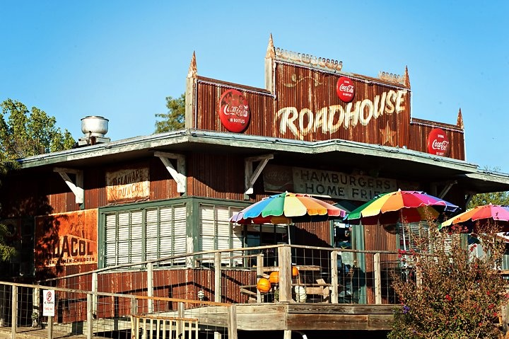 The burger at the Roadhouse in Bastrop, TX was voted one of the best burgers in Texas by Texas Monthly! #Bastrop #Texas #burger