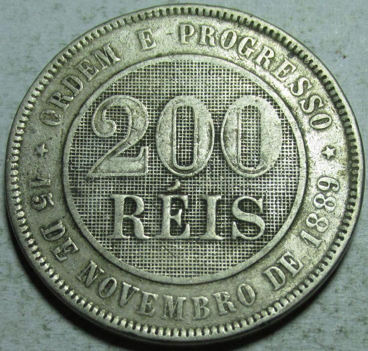 Brazil, 200 Reis, 1896, Fine, Copper-Nickel