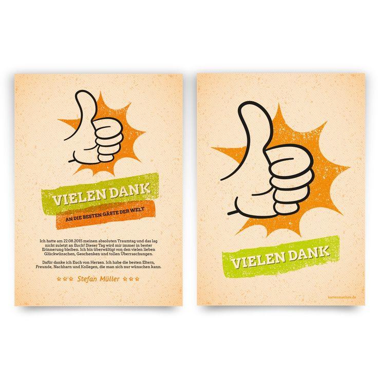 11 besten danksagungskarten bilder auf pinterest   geburtstag, Einladung