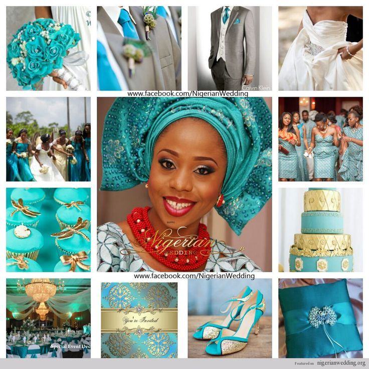63 best nigerian wedding color schemes themes images on for Turquoise gold wedding theme