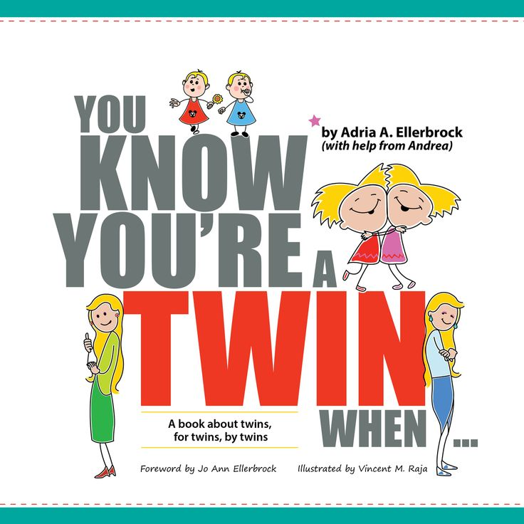 You Know You're A Twin When - Book by Adria Ellerbrock - Trends In Twos
