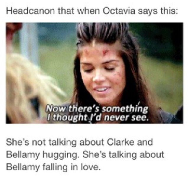 YESSSS <3 #Bellarke 2x5 Except you know he did once in the book but Clarke ended her radiation suffering
