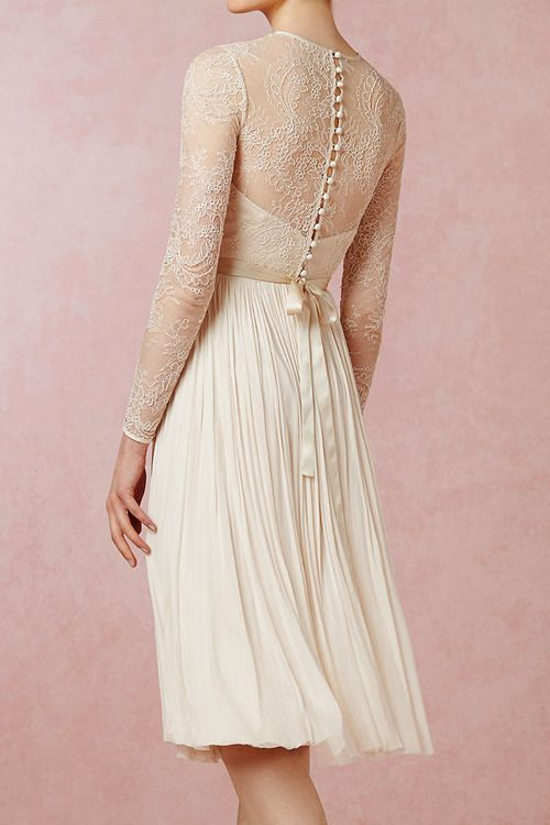 Lace Dress [Waterfall Dress by BHLDN]