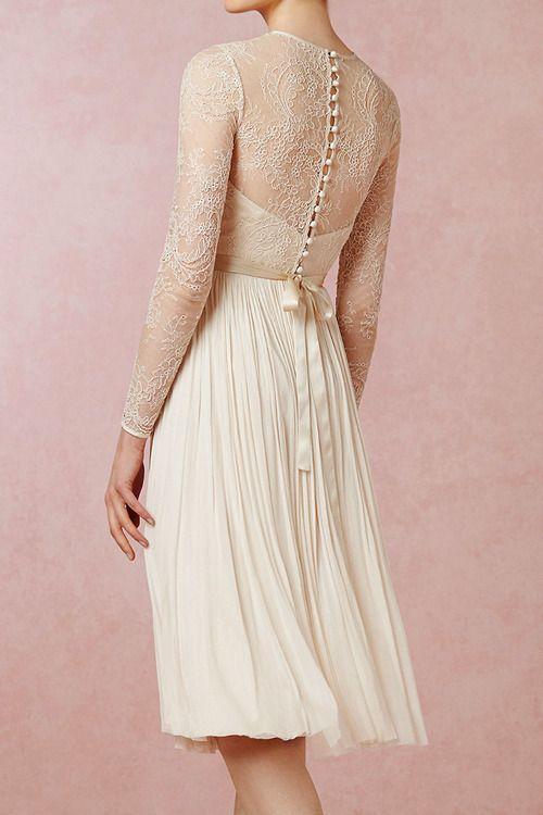 Lace Dress [Waterfall Dress by BHLDN]