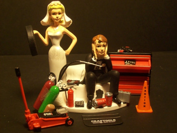AUTO MECHANIC Got the Tire Wedding Cake Topper Tools by mikeg1968, $59.99