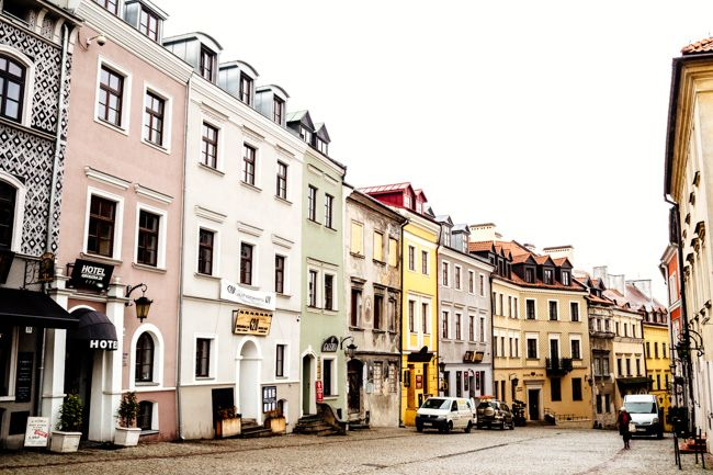 Main Street of Lublin, Poland