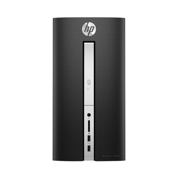 HP - Pavilion Desktop - Intel Core i3 - 8GB Memory - 1TB Hard Drive - HP finish in twinkle black, 510-P010