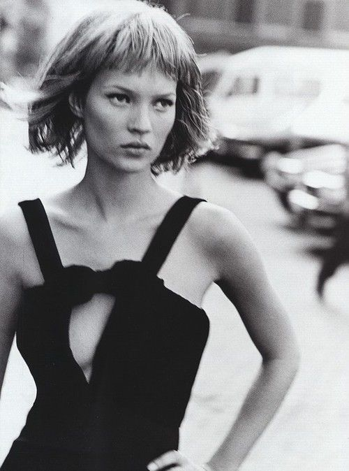 Kate Moss, Harper's Bazaar March 1994. Photographer: Peter Lindbergh