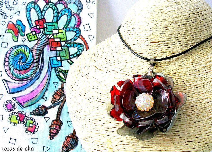 rosas de cha - #201 Eco Friendly Necklace, Artisan Pendant | Eco Colar