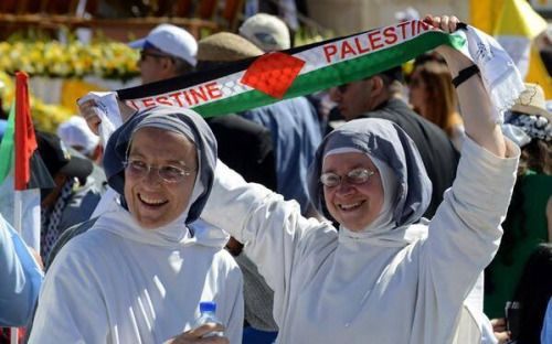 Bless how cute are these Sisters….Free free all of Palestine. QUOTE QUR'AN; Certainly you will find the most violent of all people in enmity for theose who believe (Muslims) to be the Jews and those who are polytheists, and you will certainly find the nearest in friendship to those who believe to be those who say: We are Christians. This is so because there are priests and monks among them and because they are not arrogant. (Qur'an, 5:82)
