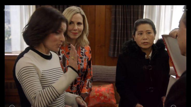 Julia Louis-Dreyfus, Sally Phillips, Lee Chen  as Selina Meyer, Minna Häkkinen, Female Translator on veep