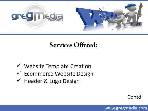 GregMedia, Inc., provides custom web designing services to clients in Houston, TX. The company provides Website Template Creation, Ecommerce Website Design, Header & Logo Design, Responsive Website Designing and many more services. To know more about the web designing service provided to Houston client, visit : http://www.gregmedia.com