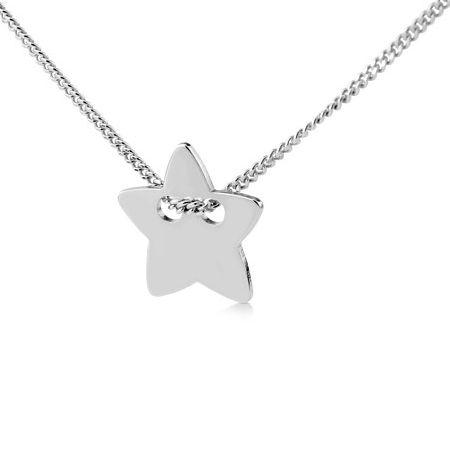 Decentní dámský náhrdelník Silvego ze stříbra s hvězdičkou BMB400