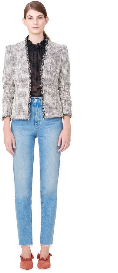Rebecca Taylor Multi Tweed Blazer