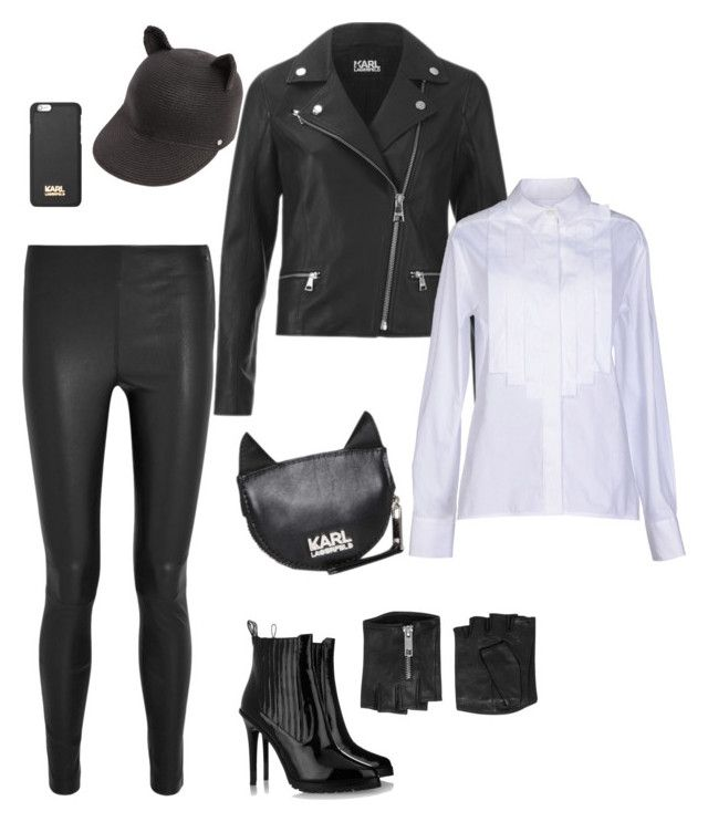 Untitled #4 by sahel7 on Polyvore featuring polyvore, fashion, style, Karl Lagerfeld and clothing