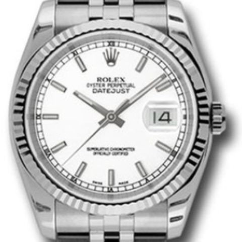 Rolex 116234 wsj Datejust 36mm Steel Fluted Bezel Jubilee