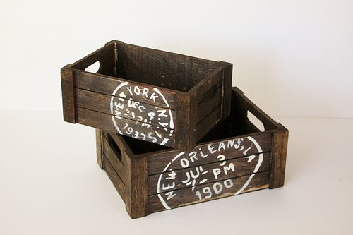 DIY Vintage Wooden Crates {from Small Home Big Start}