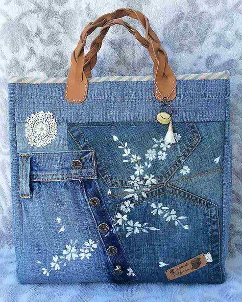 comment faire un sac en jean patrons gratuits tutos et id es de d co sac denim handbags. Black Bedroom Furniture Sets. Home Design Ideas