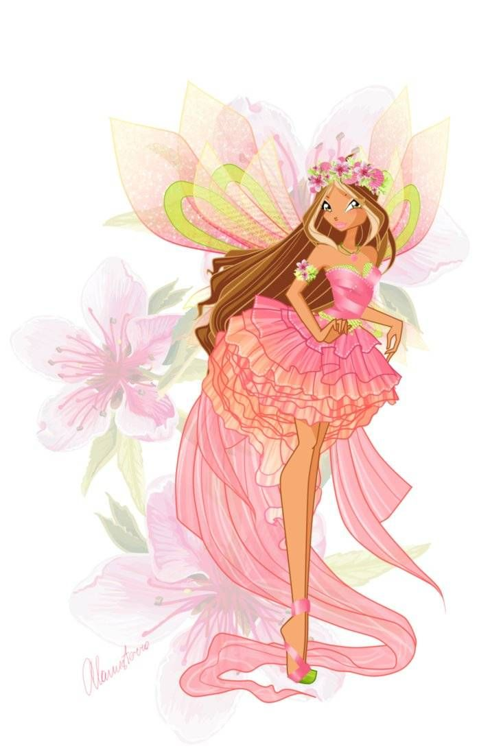 winx club flora | ... characters winx club world images pictures sirenix flora tweet
