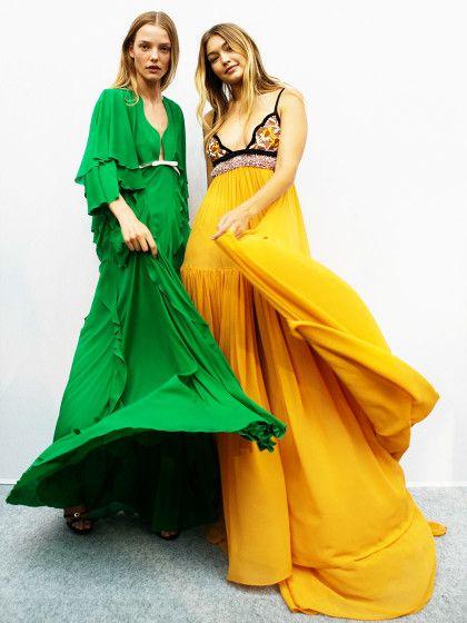 Models wie Gigi Hadid (r.) haben es echt gut! Die müssen schon von Berufswegen immerwieder inlange, fließende Kleiderschlüpfen, um sie auf dem Runway oder bei einem Fotoshooting zu präsentieren (hier bei Giambattista Valli).Und wir. Freuen uns, dass endlich die Zeit der Uniabschlussparties und derBFF-Hochzeiten gekommen ist. Denn jetzt können auch wir endlich kleidertechnisch richtig auf die K**** hauen und uns Traumkleider s...
