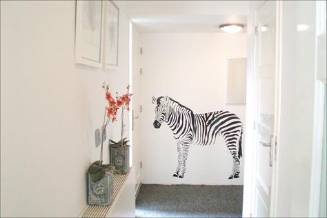 Muur sticker zebra, €39,00