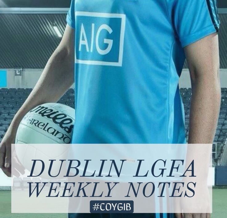 We Are Dublin  » DUBLIN LGFA WEEKLY NOTES