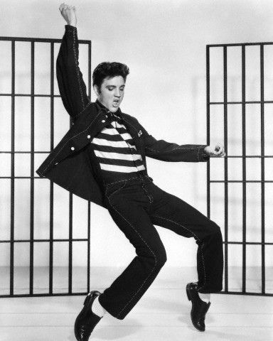 elvis presley dancing.  Had to pin it on the anniversary of his death.