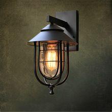 Louis Poulsen Lámpara de Pared Loft Nordic Luces E27 Plateado Hierro Desván Vendimia Industrial Retro Baño Escalera Antigua Lámpara de Luminaria(China (Mainland))