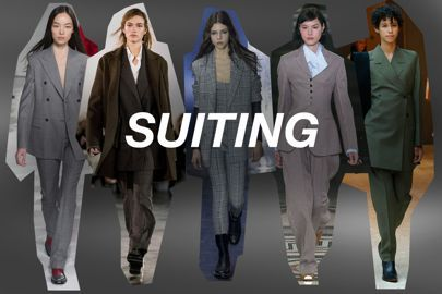 Suits are back- how would that work for knitters? Where can our Donegal inspiration come into play?