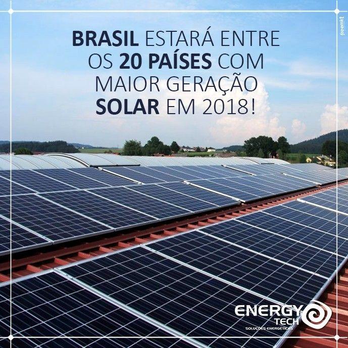 De olho no futuro!!! No próximo ano nosso país deve estar entre os 20 países com maior geração de energia solar ao lado de potências como China Alemanha e EUA. Saiba mais em: oportaln10.com.br #EnergyTech #EnergiaSolar #Sustentabilidade #MeioAmbiente #EnergiaLimpa #Eficiencia #SolarEnergy #SolarPower #Sustainability #GreenEnergy