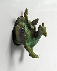 Stegosaurus. Grappig voor op de koelkast of voor op het memobord.- Pimp your fridge or whiteboard. Koelkastmagneten / Fridge magnets / Decoratie / Decoration | From Egypt and Holland with love