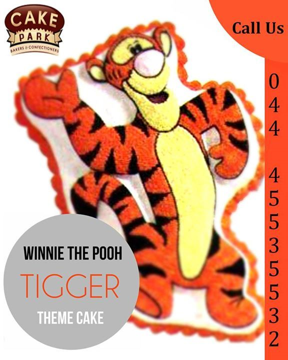 WINNIE THE POOH TIGGER THEME CAKE available from our cake shops in Chennai. ‪#‎wedding‬ ‪#‎cakes‬ ‪#‎customized‬ #Cakes, ‪#‎Birthday‬ #cakes  Visit us: www.cakepark.net Express Booking: 044-45535532