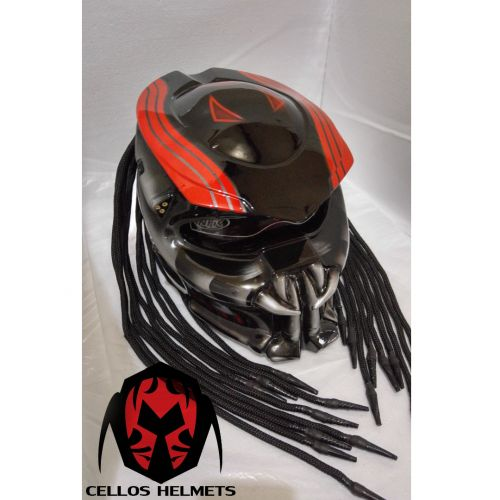 PREDATOR HELMET CUSTOM STREET FIGHTER DOT APPROVED | PanjiHelmet -  on ArtFire