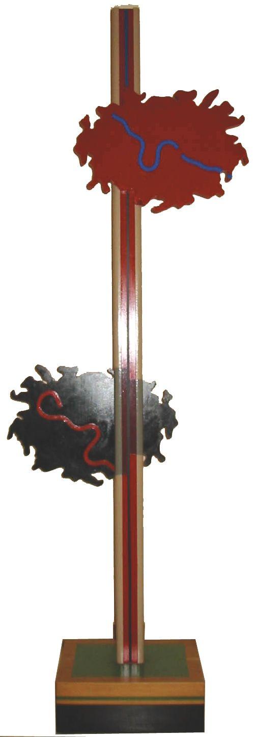 """""""Orizzonte degli eventi"""" 1989, Pinacoteca civica, Rocca san Giovanni(ch)"""