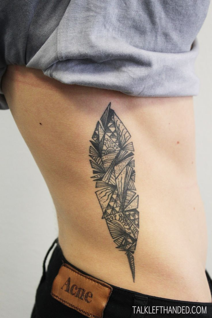 geometric feather tattoos | Le Moustache Tattoo Parlour « Tattoos by Jarmo Nuutre