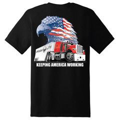 American Trucker Short Sleeve T-Shirt - Black